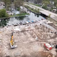A glimpse of the latest progress at The Current redevelopment in Monona